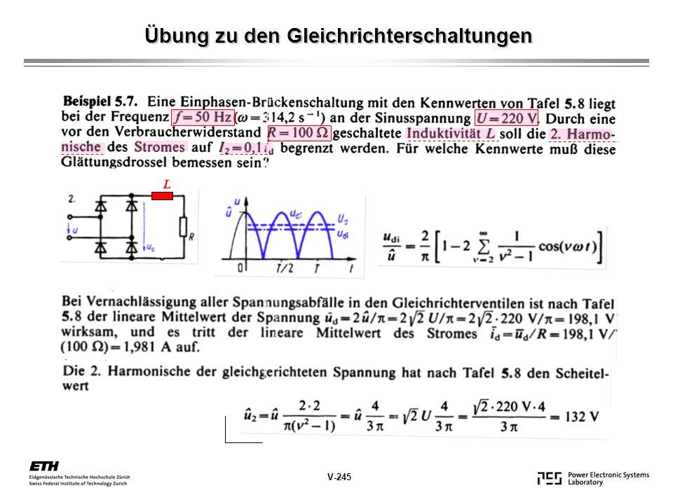 Übung zu den Gleichrichterschaltungen L V-245