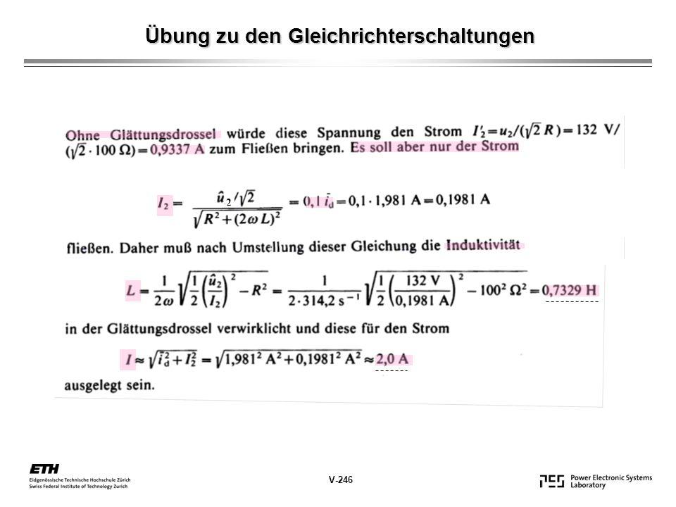 Übung zu den Gleichrichterschaltungen 2 V-246