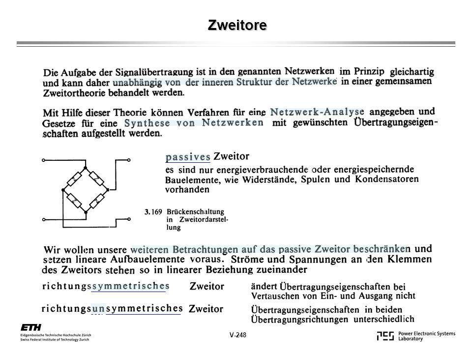 Zweitore -. V-248