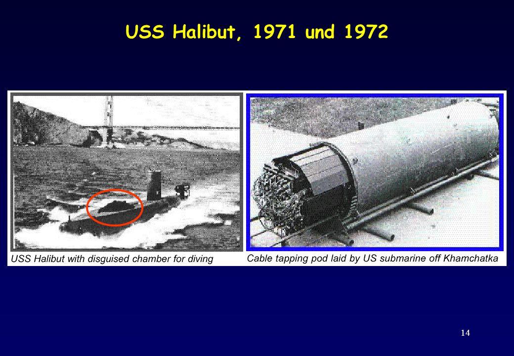 14 USS Halibut, 1971 und 1972