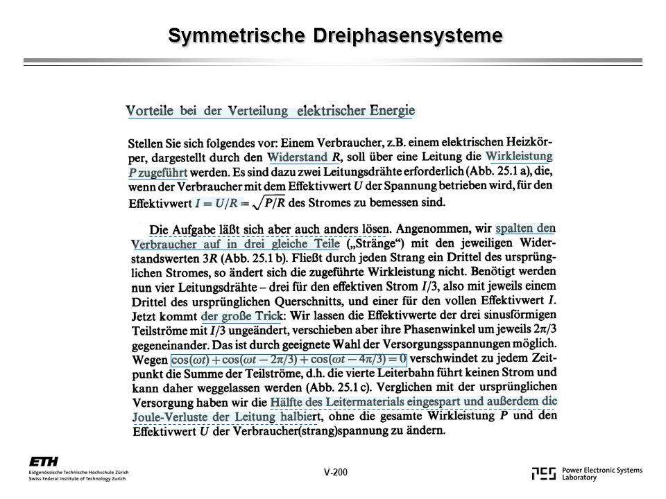 Symmetrische Dreiphasensysteme V-200