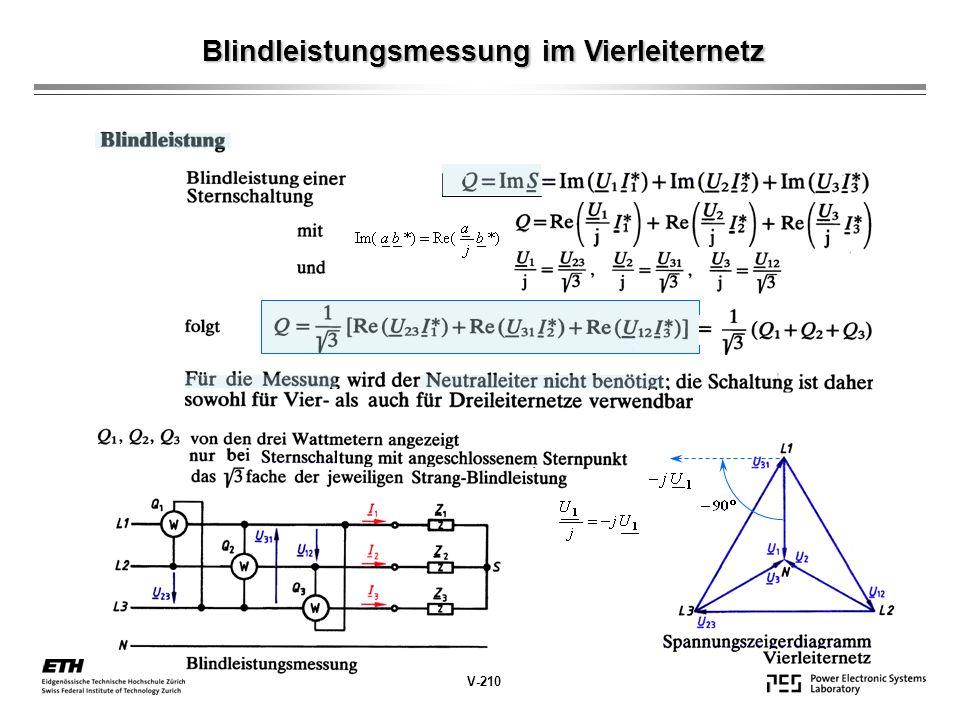 Blindleistungsmessung im Vierleiternetz V-210
