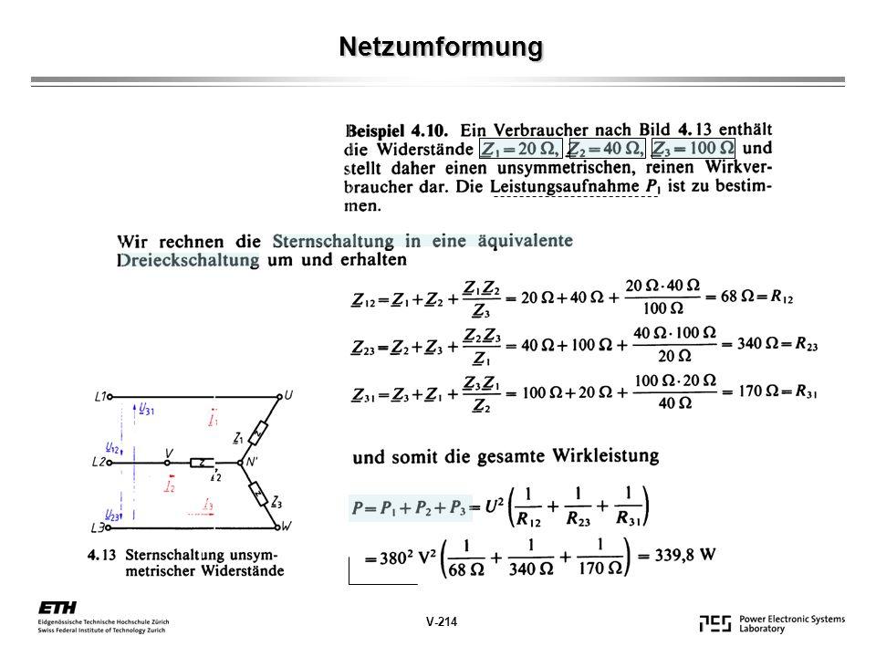 Netzumformung V-214
