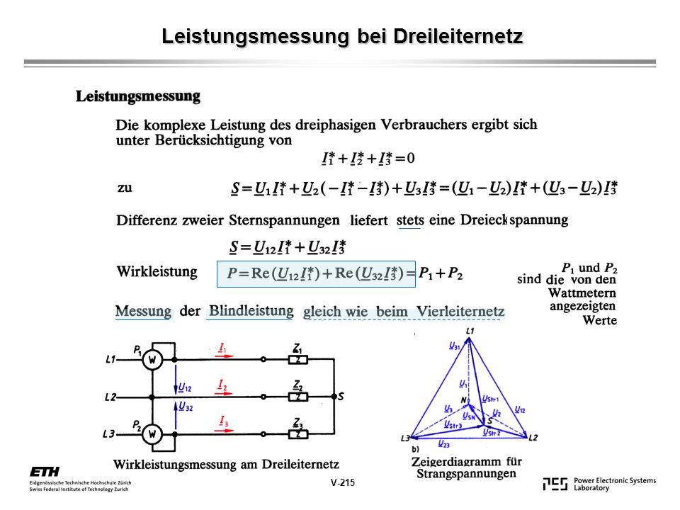 Leistungsmessung bei Dreileiternetz V-215
