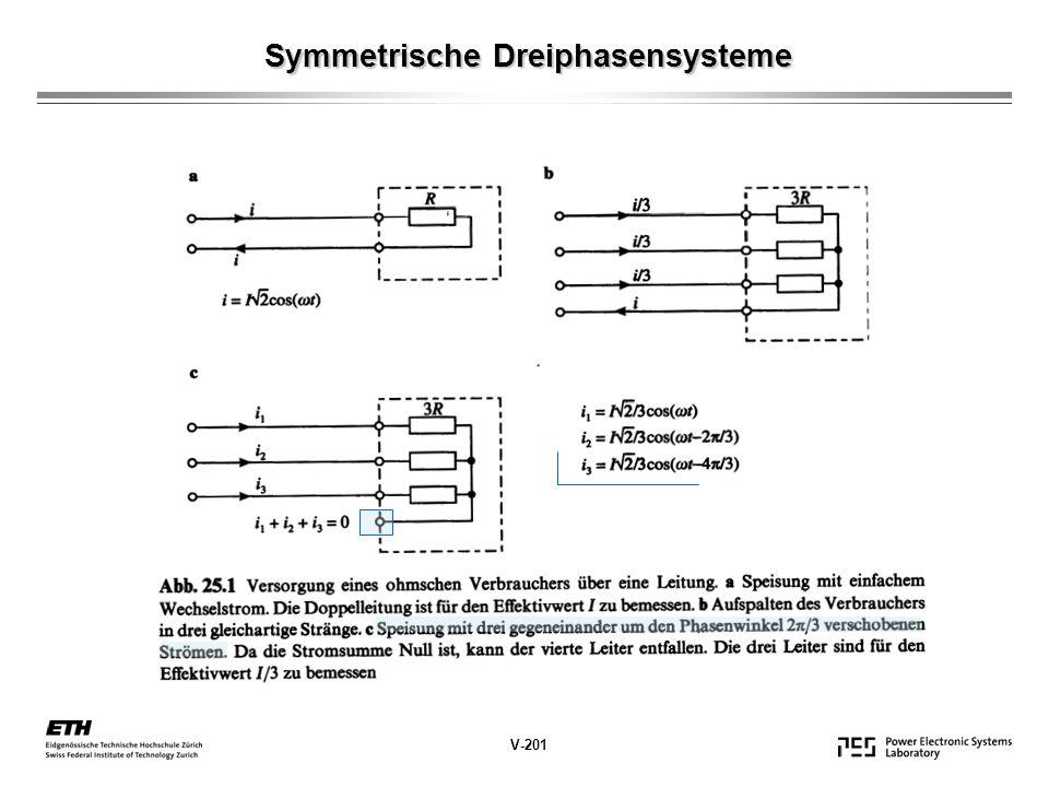 Symmetrische Dreiphasensysteme V-201