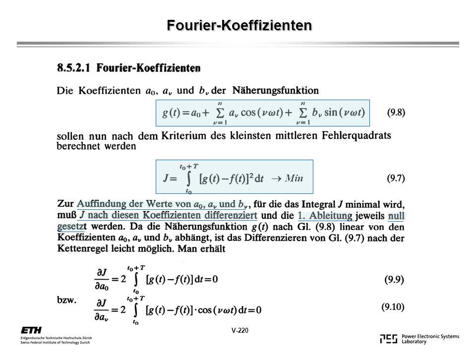 Fourier-Koeffizienten V-220