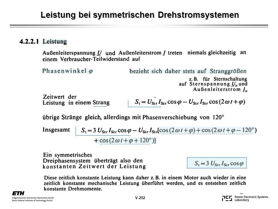 Leistung bei symmetrischen Drehstromsystemen V-202
