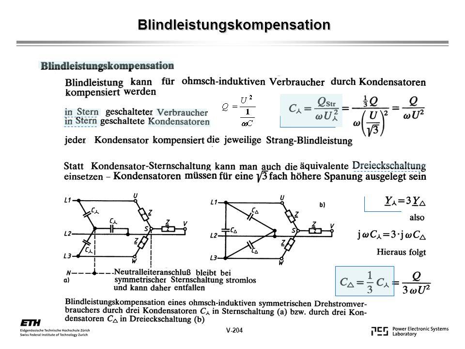 Blindleistungskompensation V-204