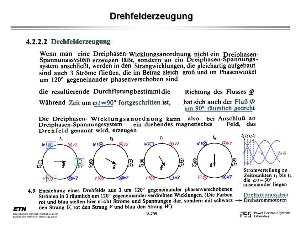 Drehfelderzeugung V-205 - t1t1 t2t2 t3t3 t4t4