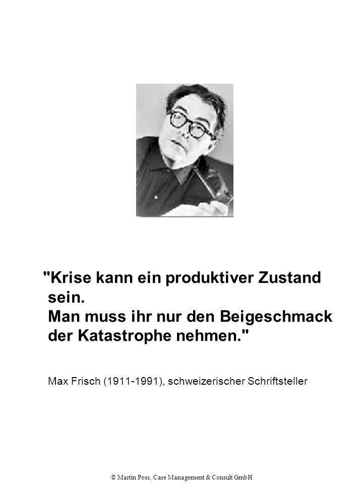 © Martin Poss, Care Management & Consult GmbH Max Frisch