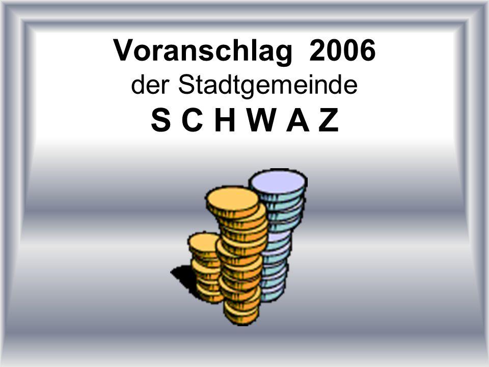 Voranschlag 2006 der Stadtgemeinde S C H W A Z