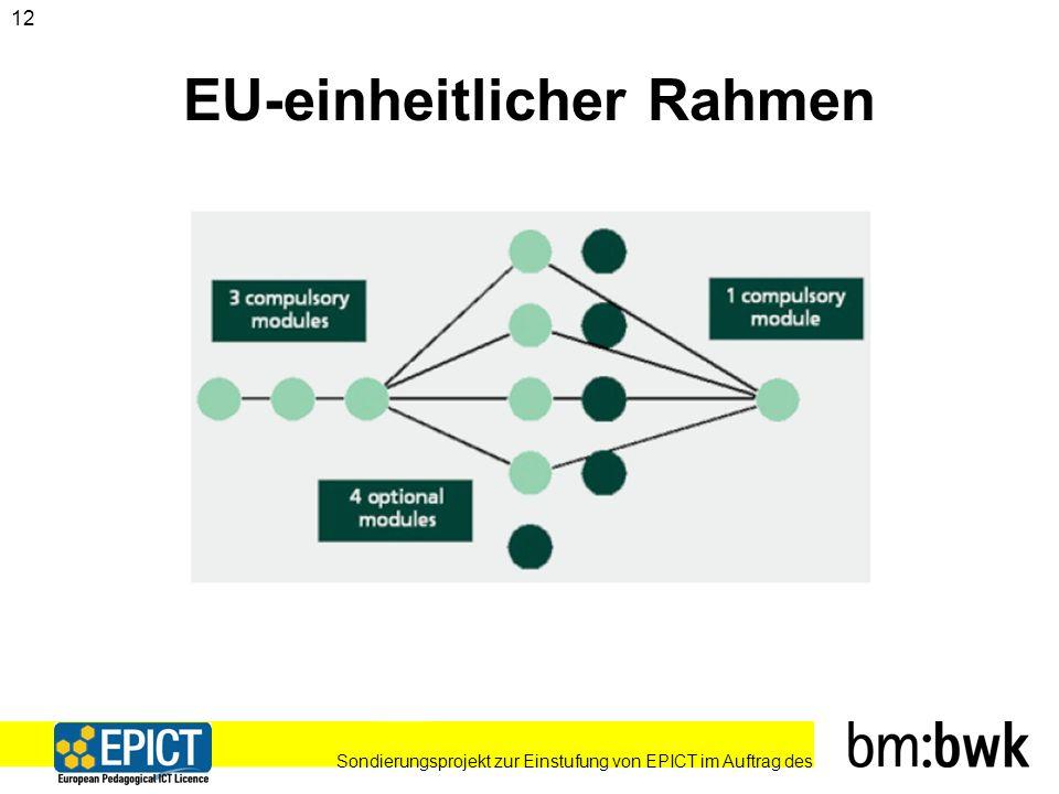 Sondierungsprojekt zur Einstufung von EPICT im Auftrag des 12 EU-einheitlicher Rahmen
