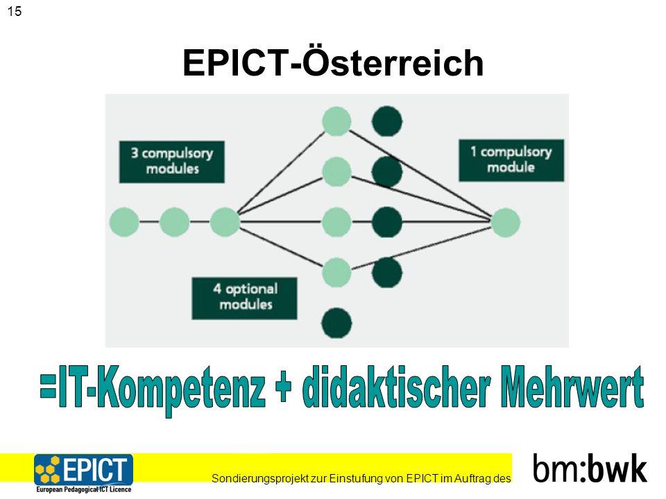 Sondierungsprojekt zur Einstufung von EPICT im Auftrag des 15 EPICT-Österreich