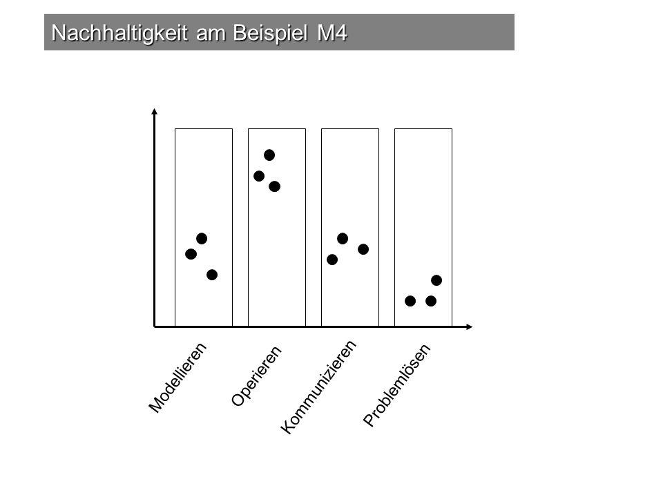 Nachhaltigkeit am Beispiel M4 Operieren Modellieren Kommunizieren Problemlösen