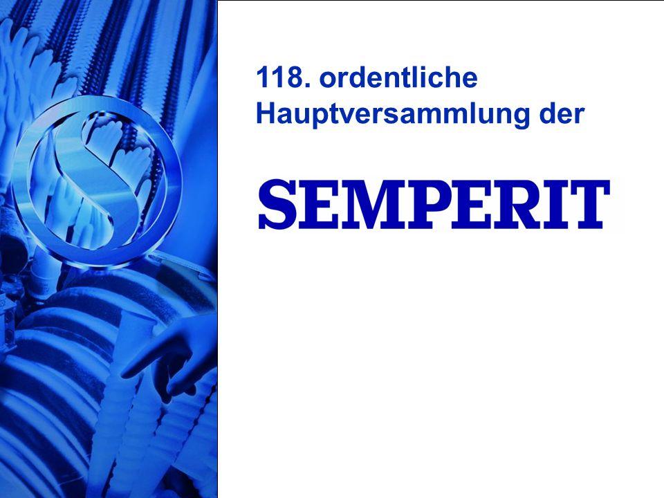 21/21 118. ordentliche Hauptversammlung der