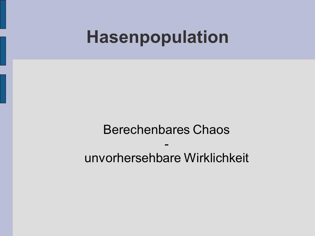 Hasenpopulation Berechenbares Chaos - unvorhersehbare Wirklichkeit