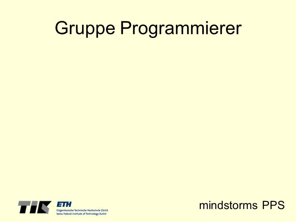 mindstorms PPS Gruppe Programmierer