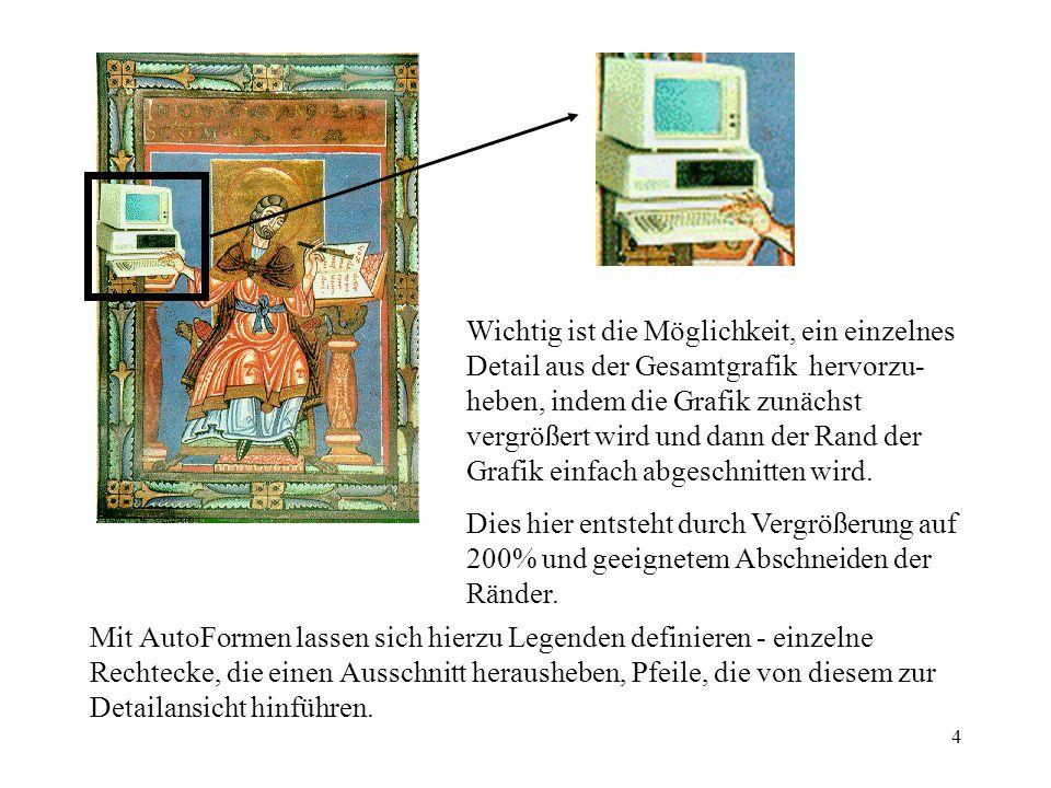 5 Mit Optionen unter Format-Grafik-Grafik-Bildsteuerung lassen sich Grafiken als Wasserzeichen und ähnliches verwenden bzw.