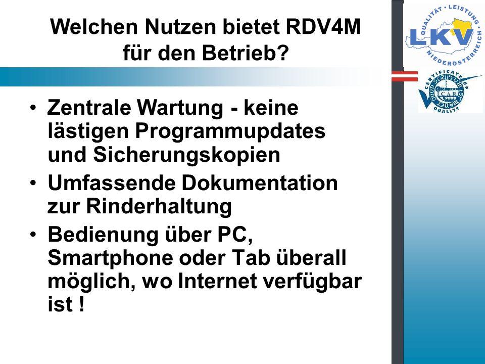 Welchen Nutzen bietet RDV4M für den Betrieb.