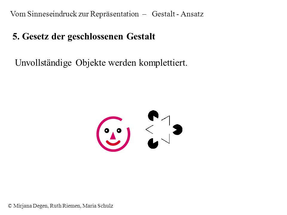 © Mirjana Degen, Ruth Riemen, Maria Schulz 5.