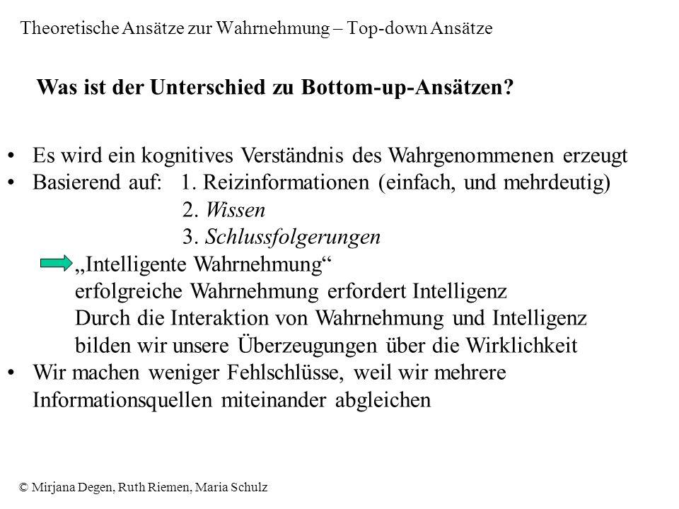 © Mirjana Degen, Ruth Riemen, Maria Schulz Was ist der Unterschied zu Bottom-up-Ansätzen.