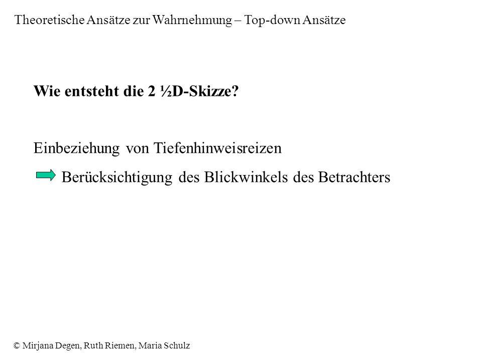 © Mirjana Degen, Ruth Riemen, Maria Schulz Wie entsteht die 2 ½D-Skizze.