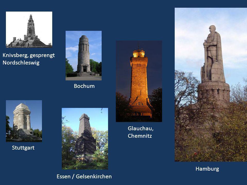 Stuttgart Hamburg Bochum Glauchau, Chemnitz Knivsberg, gesprengt Nordschleswig Essen / Gelsenkirchen