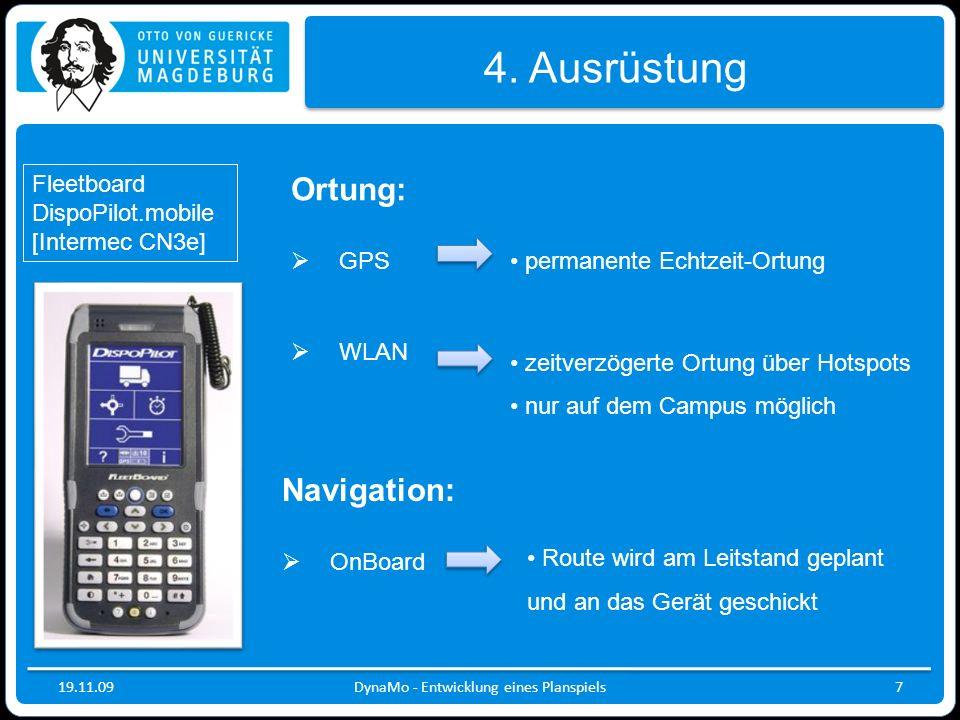 19.11.09DynaMo - Entwicklung eines Planspiels7 4.