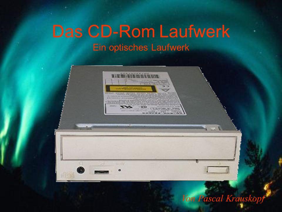Das CD-Rom Laufwerk Ein optisches Laufwerk Von Pascal Krauskopf