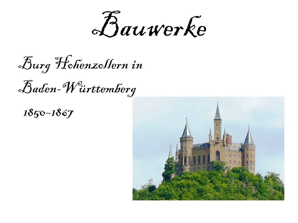 Bauwerke Burg Hohenzollern in Baden-Württemberg 1850–1867