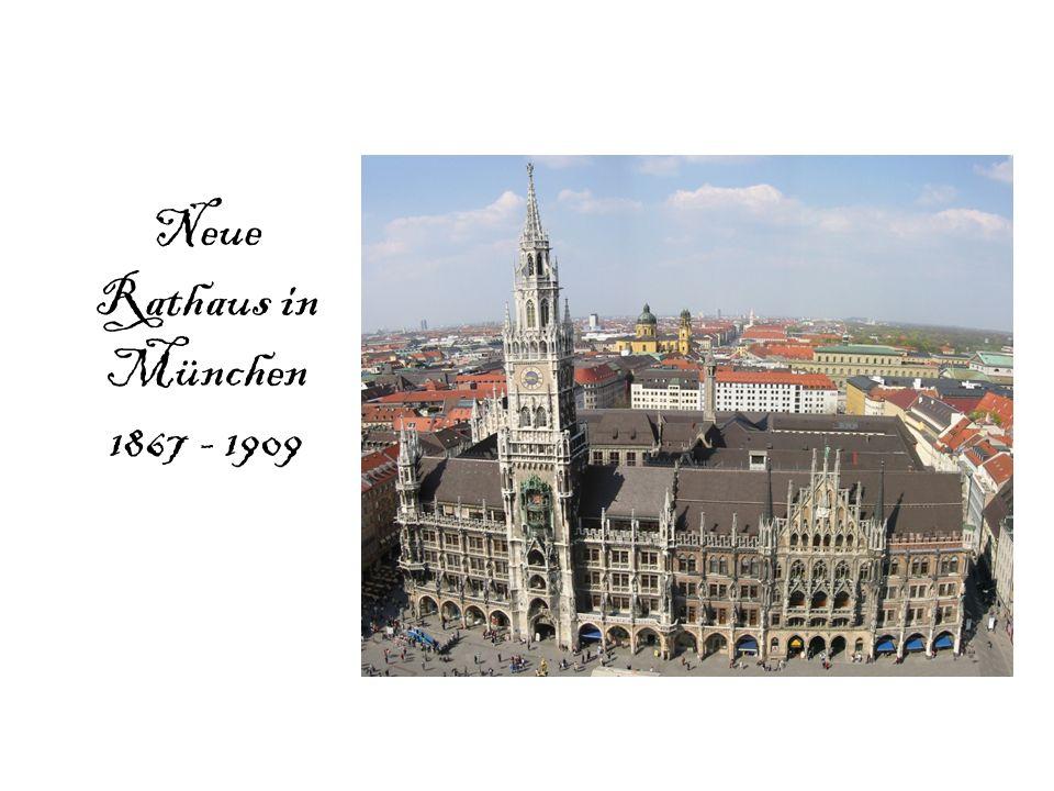 Neue Rathaus in München 1867 - 1909