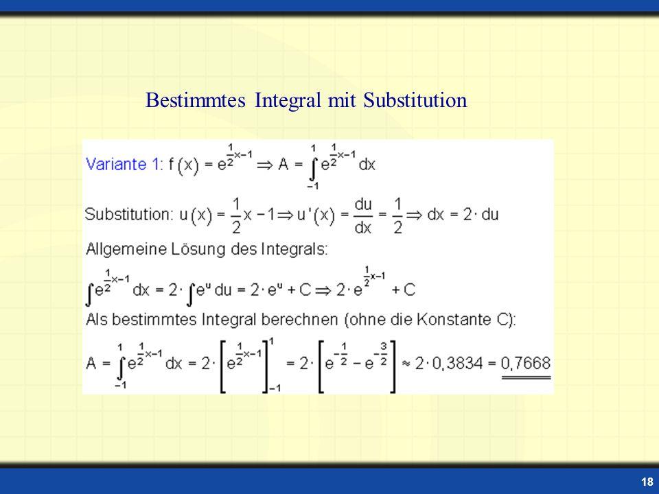 18 Bestimmtes Integral mit Substitution