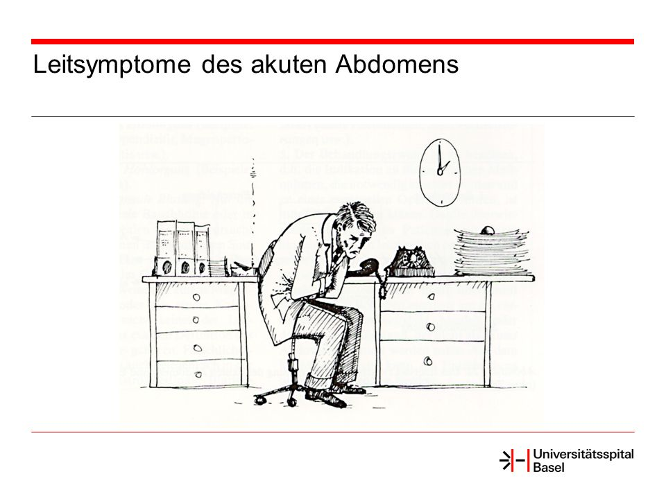 Leitsymptome des akuten Abdomens