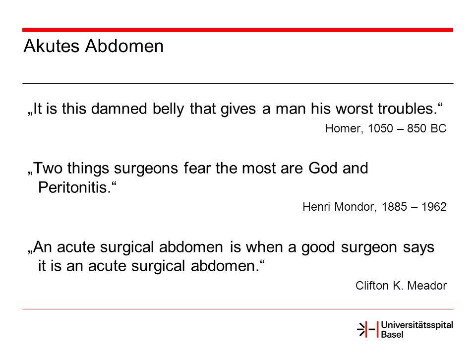Definitionen Peritonitis: