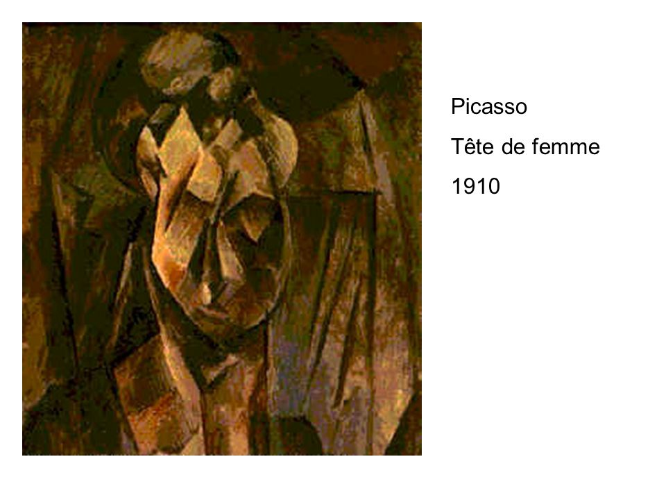 Picasso Tête de femme 1910