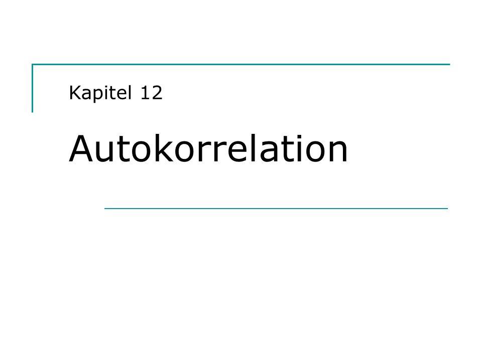 Hackl, Einführung in die Ökonometrie (12) 2 Der Sachverhalt Modell y = X + u, Ordnung von X: n x k Annahme A6: Var{u} = 2 I Annahme 6 impliziert serielle Unkorreliertheit der Störgrößen: Var{u t, u t+i } = 0, t = 1,…,n, i = ±1, ±2, … In der Realität trifft diese Annahme nicht immer zu; man spricht dann von serieller Korreliertheit oder Autokorrelation der Störgrößen; Var{u} = 2 mit Nichtdiagonalelementen verschieden von Null Fragestellungen: Konsequenzen von Autokorrelation Möglichkeiten zum Identifizieren von Autokorrelation Alternative Verfahren, die bei Autokorrelation verwendet werden können