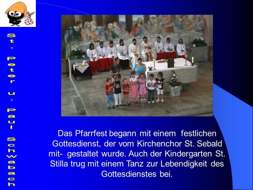Das Pfarrfest begann mit einem festlichen Gottesdienst, der vom Kirchenchor St.