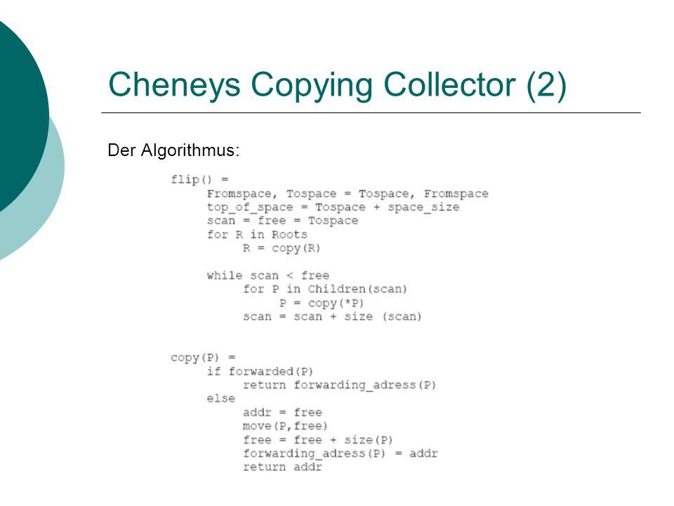 Cheneys Copying Collector (2) Der Algorithmus: