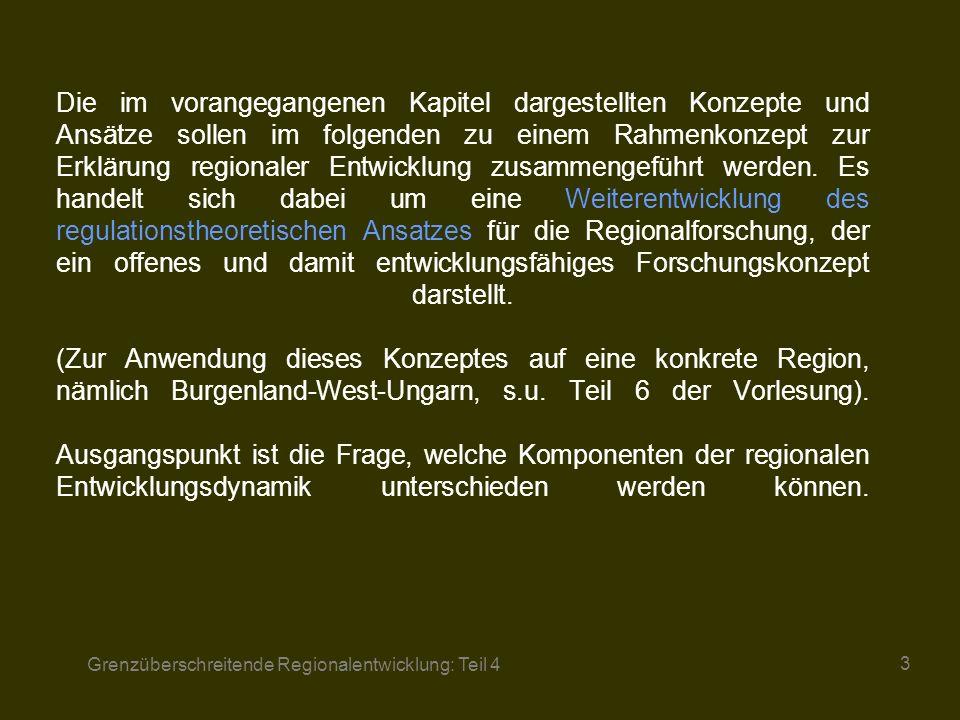 Grenzüberschreitende Regionalentwicklung: Teil 4 14 3.4.