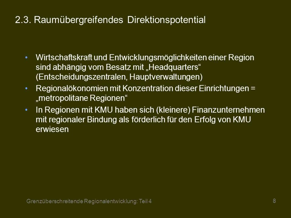 Grenzüberschreitende Regionalentwicklung: Teil 4 9 2.4.