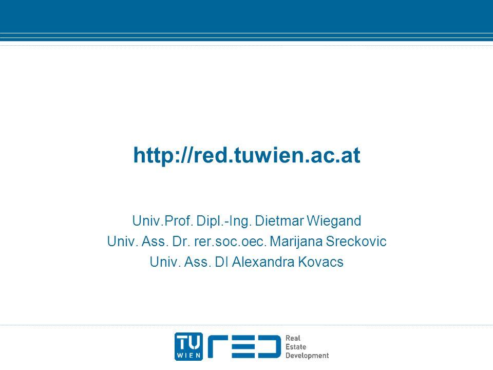 http://red.tuwien.ac.at Univ.Prof. Dipl.-Ing. Dietmar Wiegand Univ. Ass. Dr. rer.soc.oec. Marijana Sreckovic Univ. Ass. DI Alexandra Kovacs