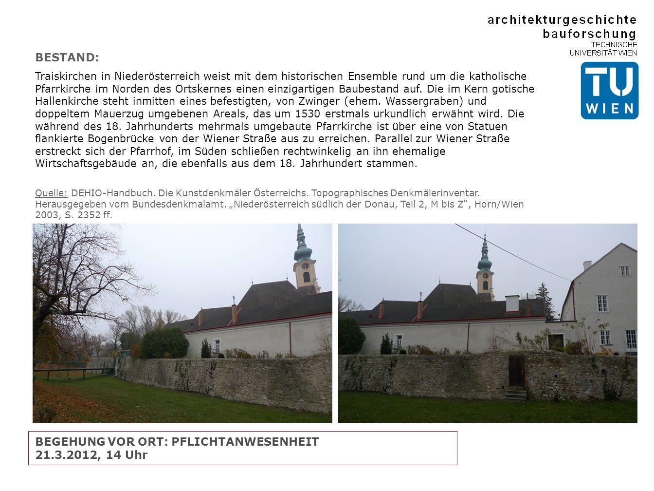 BESTAND: Traiskirchen in Niederösterreich weist mit dem historischen Ensemble rund um die katholische Pfarrkirche im Norden des Ortskernes einen einzigartigen Baubestand auf.