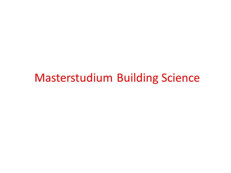 Masterstudium Building Science Gliederung des StudiumsGliederung des Studiums