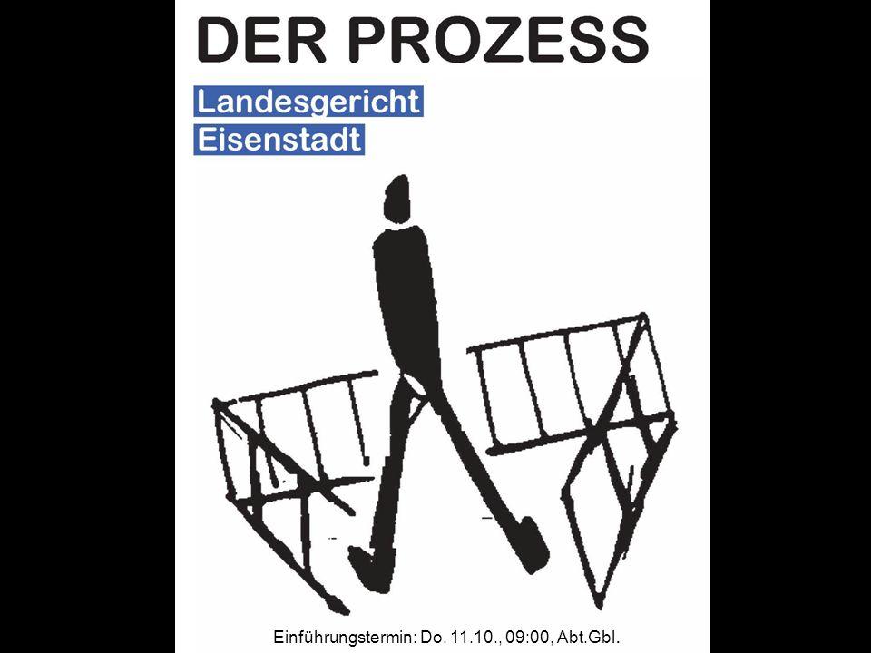Einführungstermin: Do. 11.10., 09:00, Abt.Gbl.