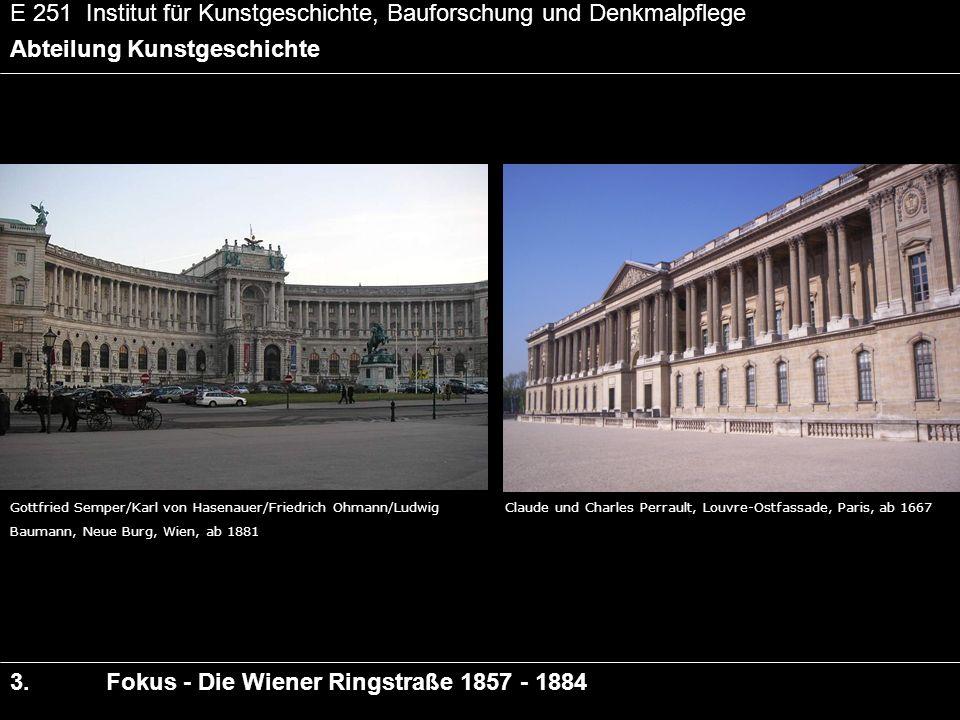 E 251 Institut für Kunstgeschichte, Bauforschung und Denkmalpflege Abteilung Kunstgeschichte 3.