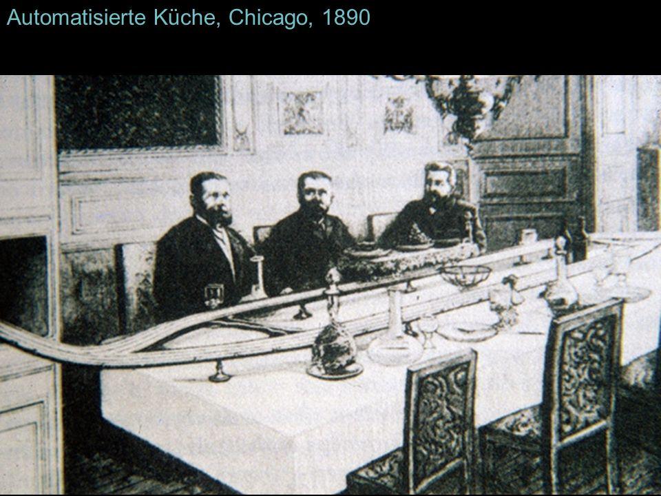 Automatisierte Küche, Chicago, 1890