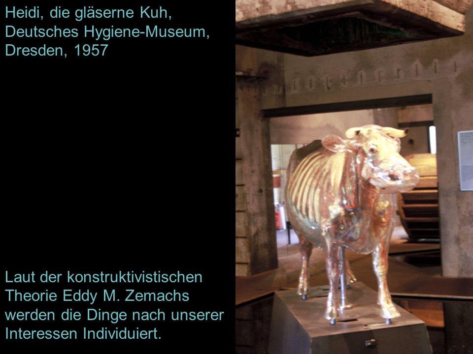 Heidi, die gläserne Kuh, Deutsches Hygiene-Museum, Dresden, 1957 Laut der konstruktivistischen Theorie Eddy M. Zemachs werden die Dinge nach unserer I