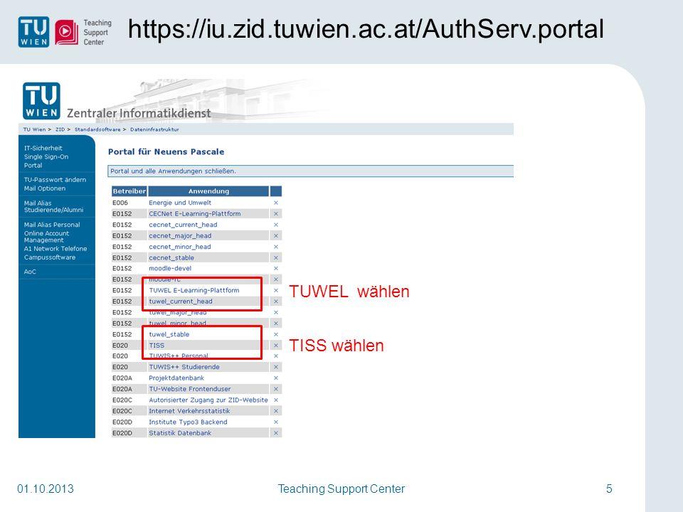 Teaching Support Center26 http://ar.tuwien.ac.at 01.10.2013 Alle Institute und Abteilungen Fakultät nur nach Personen suchen