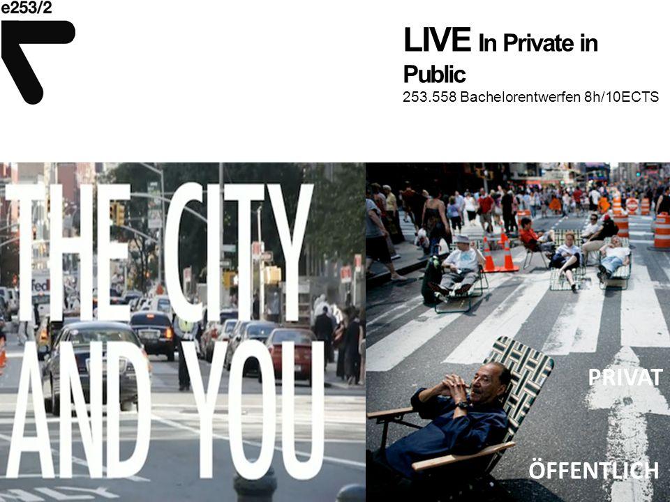 LIVE In Private in Public 253.558 Bachelorentwerfen 8h/10ECTS Bautypologie entwickeln – Verdichtung, Durchlässigkeit, Verflechtung, Kleinteiligkeit,