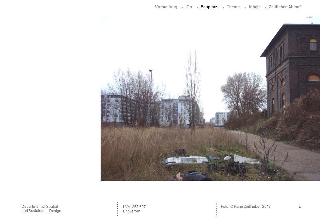 5Department of Spatial and Sustainable Design Plan Nordbahnhof Wien, 1890 © Copyright / Staatsarchiv Wien LVA: 253.607 Entwerfen : Vorstellung Ort Bauplatz Thema Inhalt Zeitlicher Ablauf